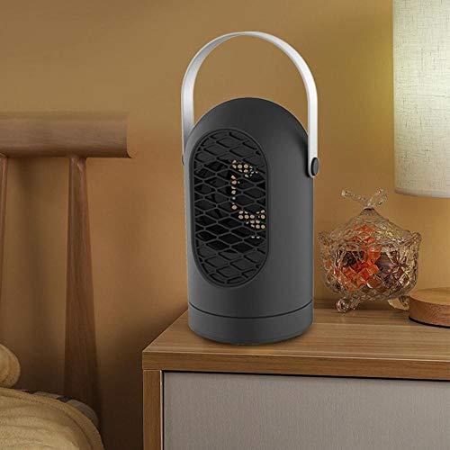Volwco Heizlüfter, Elektrische Heizung 400W Energiesparend Heizlüfter, Tragbar, Lautlos?3s Aufheizen, Überhitzungschtuz Abschaltfunktion, für Haus Büro Badezimmer,1 stück