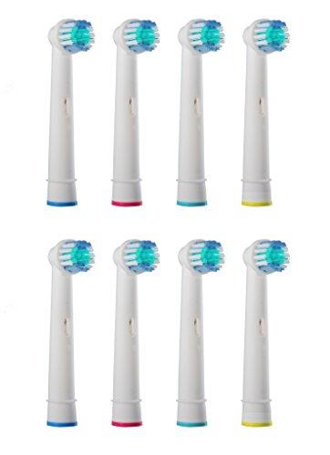 Aufsteckbürsten passend für --- ALLE --- Braun ORAL-B Zahnbürsten mit rundem Bürstenkopf...