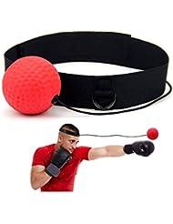 FOONEE - Pallone da boxe/allenamento per riflessi, coordinazione occhio-mano e precisione con fascia regolabile per la testa/cordicella