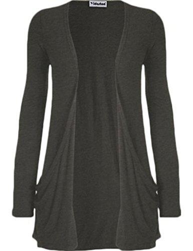 Lantch Donne Manica lunga tasca aperta cardigan pullover oversize camicetta casual Top