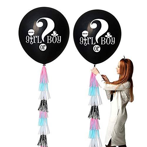 FINIVE fibUNIve 36 Zoll Pailletten Konfetti Quaste Geschlecht offenbaren Ballons Baby Dusche Hochzeitsdekor 6#