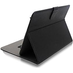 """ProCase Étui Folio Universel pour 9-10 Pouces Tablette, Housse de Protection en Cuir pour Tablette Tactile 9""""10.1"""" avec Support Multi-Angle, avec Un Stylet ProCase de Bonus (Noir)"""