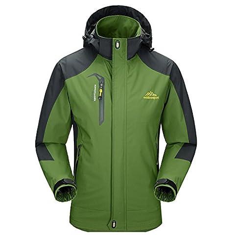 Diamond Candy men Sportswear Hooded Softshell Outdoor Raincoat Waterproof Jacket 08GS