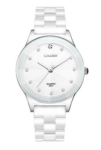 Männer und analoge Frauen Strass Quarzarmbanduhr Keramik-Uhren für Liebhaber/Paare
