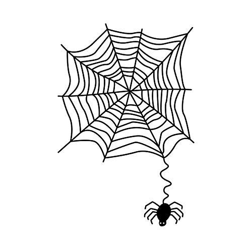 , Spinnennetz, 71,1 x 48,3 cm, lustig, gruselig, Halloween, Dekoration - niedlich, für Innen- und Außenbereich, Wand-, Fenster- und Wohnzimmer, Büro ()