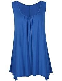 Purple Hanger - Top uni Col rond sans manche en tissu extensible Femme -  Grandes tailles cf61c4526466