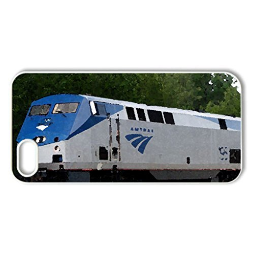 amtrak-195-case-cover-for-iphone-5-and-5s-modern-series-watercolor-style-white