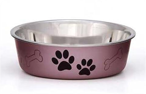 Loving Pets Metallic Bella Bowl Dog Bowl, Large, 1.5 Litre, Grape
