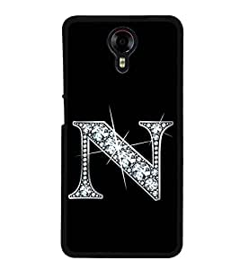 Alphabet N 2D Hard Polycarbonate Designer Back Case Cover for Micromax Canvas Xpress 2 E313