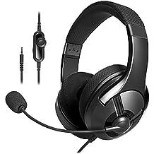 AmazonBasics - Cuffie gaming, Nero