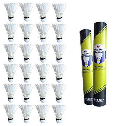Rayline Sport Serie 24 Stück Federball Bälle Set Practice mit bis zu 16 Federn für Badminton Indoor Outdoor Anfänger Trainingsbälle