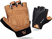West Biking Cycling Gloves for Men Women Anti Slip Shock-Absorbing Half Finger Road MTB Gloves with Foam Paddi
