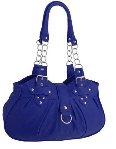 EyeCatchBags - Huron Damen Schultertasche / Handtasche aus Kunstleder Cobalt Blue (Handtaschen Cobalt Blue)