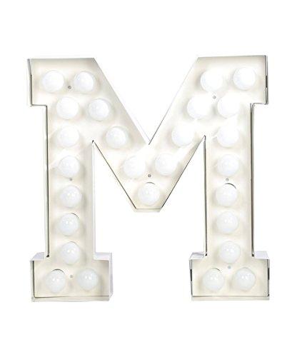 VEGAZ - Lampe à poser Lettre Géante M | Lampe à poser Seletti designé par Selab