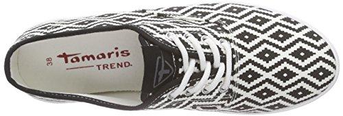 Tamaris 23609, Sneakers basses femme Noir/blanc