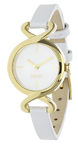 Esprit fontana soft ES106272006 - Reloj analógico de cuarzo para mujer, correa de cuero color blanco