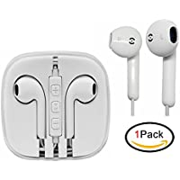 Headphones Earphones iPhone Jiayou Headsets Earbuds for iPhone iPad ipod Samsung with with Mic and Remote (1Pack General Edition)