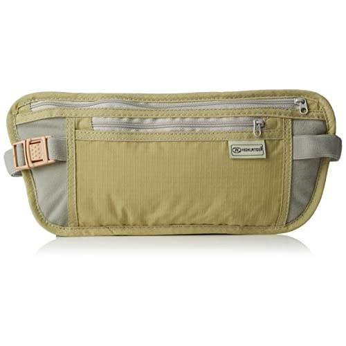 41albp6pArL. SS500  - Highlander Double Pocket Money Belt/Wallet ― Anti Chaffing – Adjustable Waist Strap ― Great for Holding Mobiles, Money, Keys ― Anti Theft ― Keep Pickpockets Away!