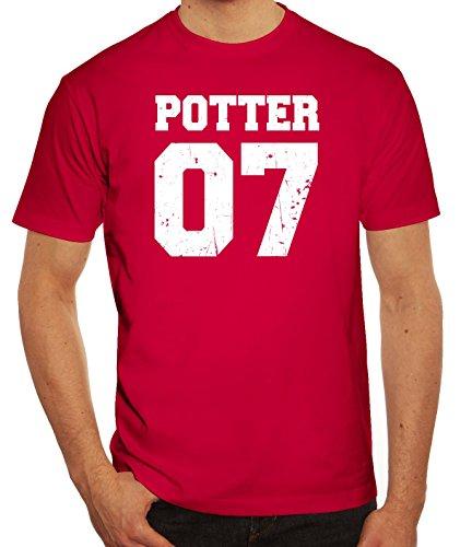Fanartikel Fan Kult Film Trikot Herren T-Shirt Potter 07, Größe: M,Sorbet