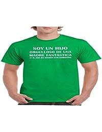 Camisetas divertidas Parent Soy Un Hijo Orgulloso de Una Madre Fantastica, y Si, Ella