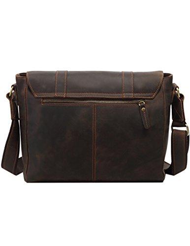 Menschwear Borse a tracolla di borse della borsa della borsa di cuoio delle donne Marrone Caffè