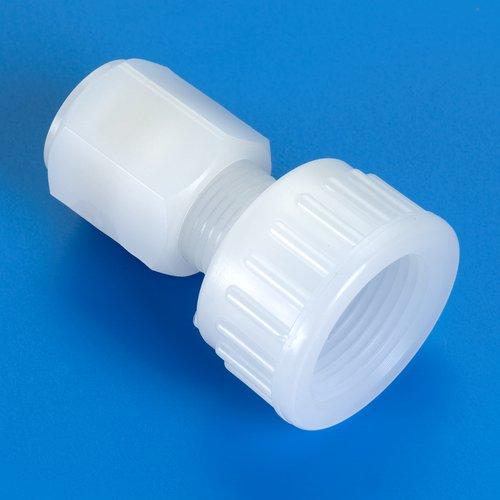 Thomafluid Rohrverbinder aus PP/PVDF/PFA - lose Überwurfmutter DIN 8063, Rohr Außen-Ø: 12 mm, D1: 66 mm, Werkstoff: PP, 2 Stück