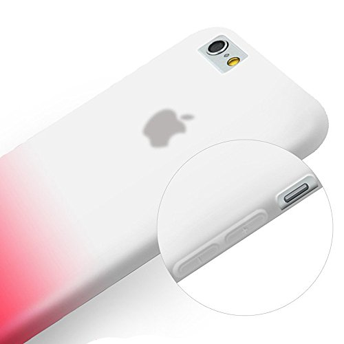 iPhone 6 Coque,COOLKE [Jaune] Un changement graduel TPU Silicone Housse Coque Etui Gel Case Cover Pour Apple iPhone 6 (4.7 inch) Rouge