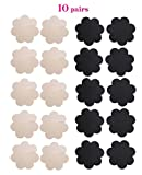 WODISON Womens Nipple Covers Adhesive Breast Petals Disposable Stain Multi Design (10 Pairs)