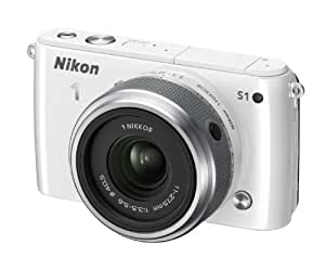 Nikon 1 S1 Compact System Camera - White (10.1MP with 11-27.5mm Lens Kit) 3 inch LCD (discontinued by manufacturer)