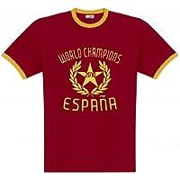 World of Football Ringer T-shirt Spanien Weltmeister 2010