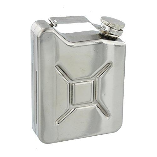 Harvey Makin Oxid7Style 170,1gram Flasque dans une finition en acier inoxydable poli miroir–Un cadeau idéal pour l'amateur de conduite automobile (Hm1153)