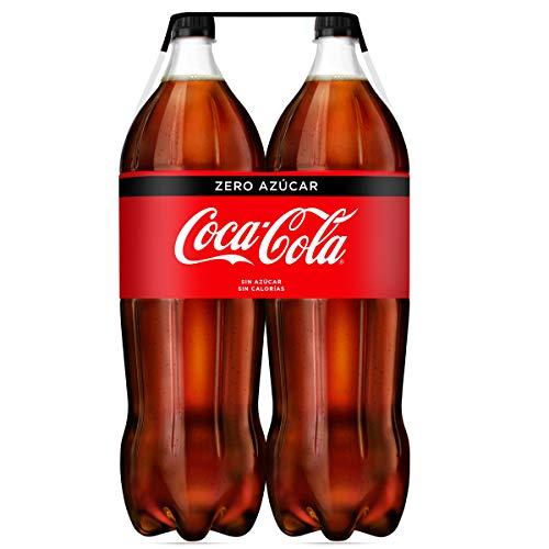 Coca-Cola - Zero, Refresco con gas de cola, 2 l (Pack de 2), Botella de plástico
