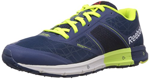 Reebok ONE Cushion 2.0 City Lights Herren Laufschuhe Blau (Faux Indigo/Silver Met/Slr Yellow/Batik Blue)