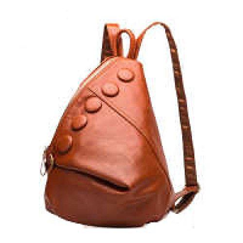 PACK Borsa A Tracolla Lychee Modello Spalla Zaino Fashion College Wind,C:ClassicBlack B:FashionBrown