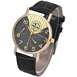 Unisex Wrist Watch - HUANS Unisex Women Men Classic Business Charming Analog Quartz Wrist Watch Black