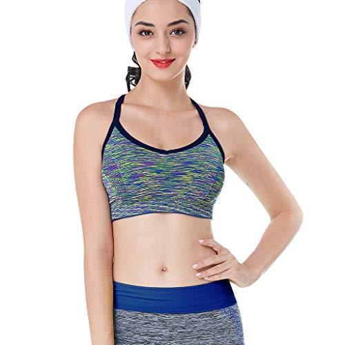 LHWY Damen Sport BH Push Up Frauen Neckholder Dessous ärmellose Yoga BHS Frau Sport Tops Sommer Sportswear Weste Unterwäsche