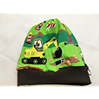 Beanie Mütze Baustelle grün, auch gefüttert
