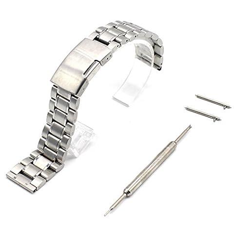 Rerii 20mm High Grade Edelstahl Uhrenarmbänder Armband für Samsung Galaxy Gear S2 Classic, Moto 360 2 42mm Man, Pebble Time Round und andere Uhr mit 20mm Uhrenarmband