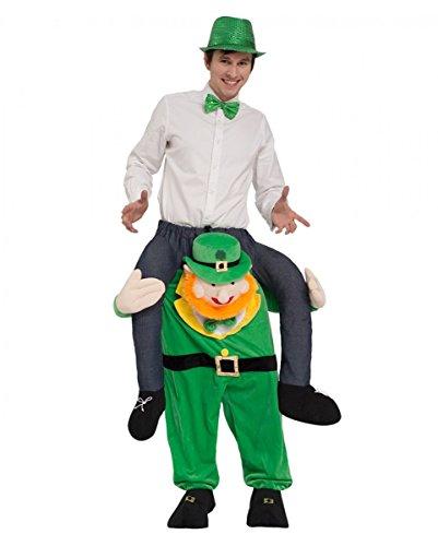 Horror-Shop Irischer Kobold als Carry Me Kostüm für St. Patricks Day & Fasching One Size (Das Kobold Kostüm Tragen)