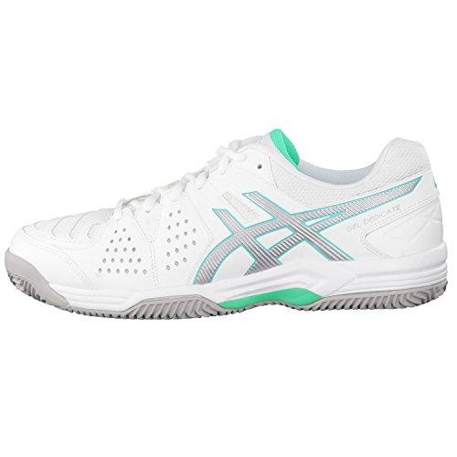 Asics, Chaussures Pour Femmes Blanc Blanc / Argent / Menthe 40.5 Blanc - Blanc / Argent / Menthe