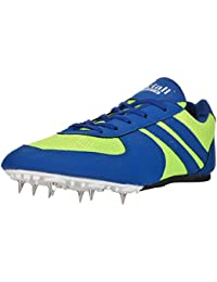 Victall Men's Running Spikes Shoes (Blue & Parrot)