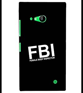 PRINTSHOPPII FBI Back Case Cover for Nokia Lumia 730::Microsoft Lumia 730::Microsoft Lumia 735