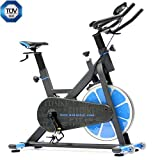FitBike Indoor Cycle Race Magnetic Home - 20 kg Schwungrad - Poly V-Riemen und Magnetisches Widerstandssystem - Mit Trainingscomputer - Spinning Fahrrad