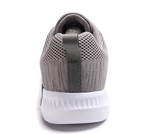 Clapzovr Uomo Sneaker Per Il Tempo Libero Scarpe Sportive Leggere Grigie