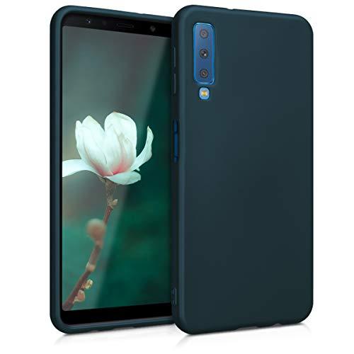 kwmobile Samsung Galaxy A7 (2018) Hülle - Handyhülle für Samsung Galaxy A7 (2018) - Handy Case in Metallic Petrol