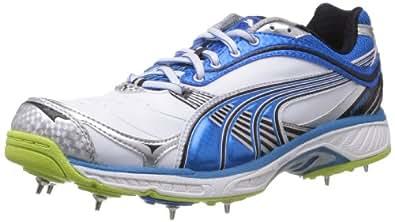 Puma Men's Karbon Convertible Spike White Leather Cricket Shoes - 13UK/India (48EU)
