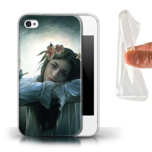 Officiel Elena Dudina Coque / Etui Gel TPU pour Apple iPhone 4/4S / Par le Vent Design / Un avec la Nature Collection Rêveur