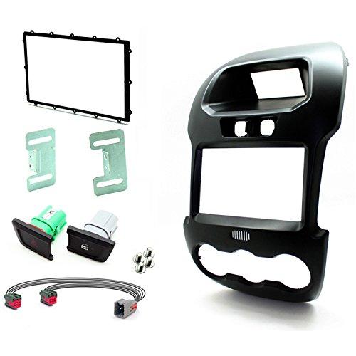 Scosche FDSA6213DDB 2012-15 Ford Ranger ISO Doppel-DIN Kit schwarz matt -