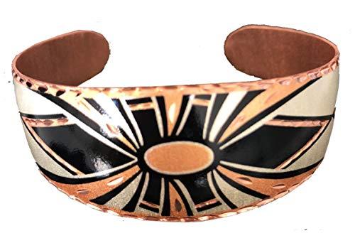 Handgearbeitetes anpassbares Kupfer- Armband mit einzigartigem handwerker design. Gegen Schmerz und Arthritis. Therapie mit Kupfer. (South Native/Unique Bracelets) (Art Nouveau)