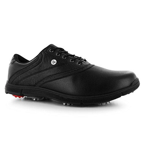 Dunlop Mens Classic Golf Shoes Lace Up Sports Spiked Cushioned Ankle Footwear Black UK 12 (46)